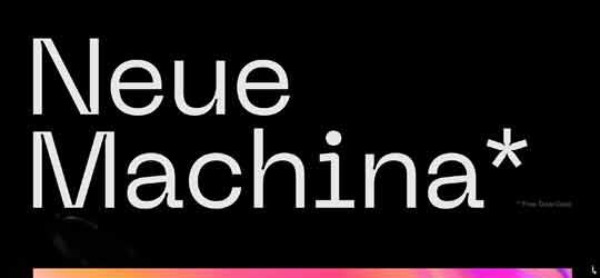 Мощный шрифт Neue Machina