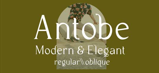 Элегантный шрифт Antobe