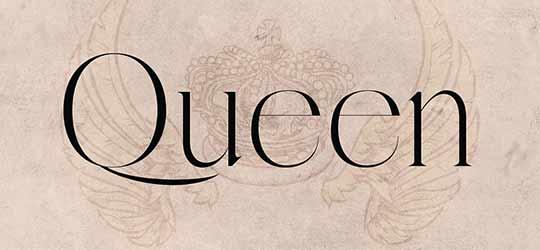 Красивый элегантный шрифт с засечками Queen