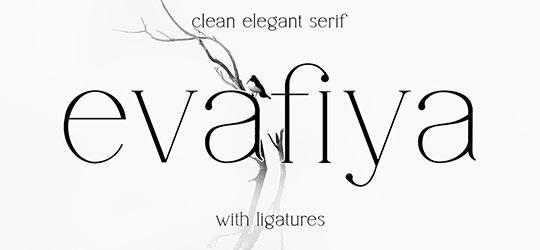 Чистый элегантный шрифт