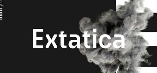 Рубленный шрифт Extatica