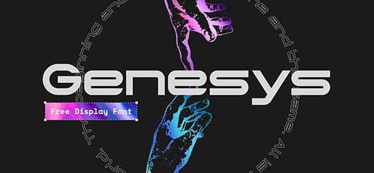 Шрифт Genesys