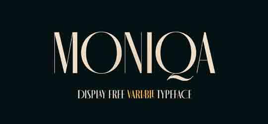 Красивый шрифт кириллица Moniqa