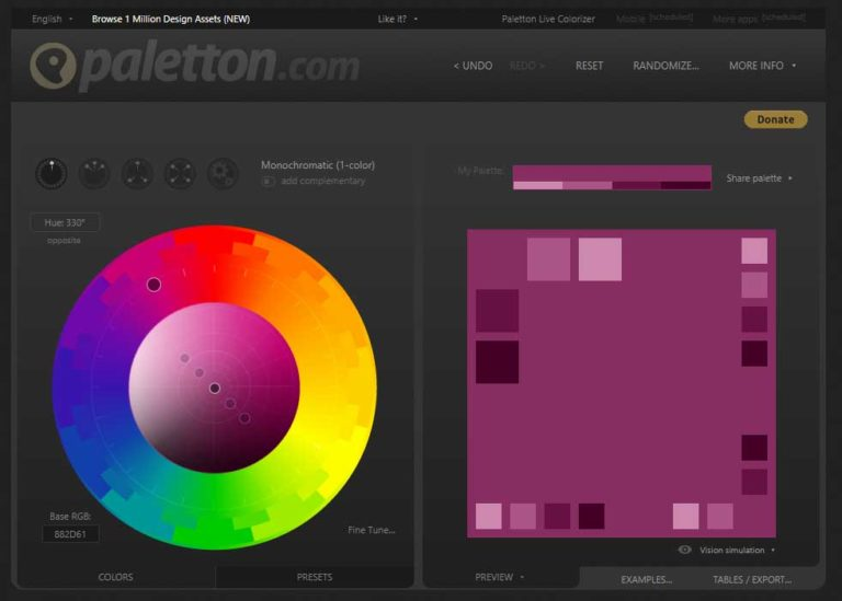 Paletton - подбор цвета
