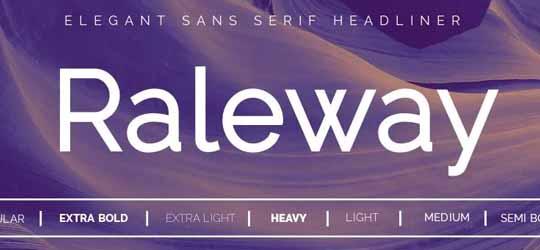 Скачать шрифт Ralleway