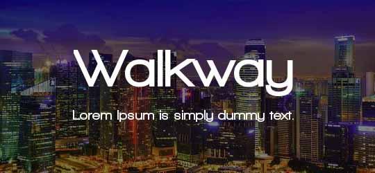 Скачать шрифт Walkway
