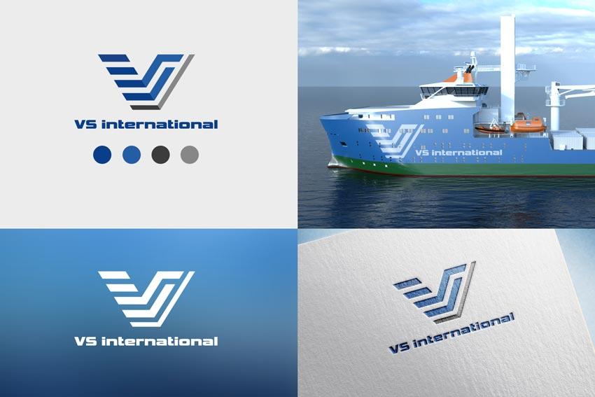 Логотип для морской логистической компании