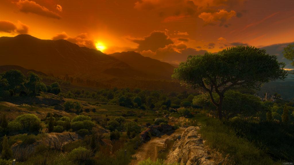 Закат над Туссентом в игре Ведьмак 3