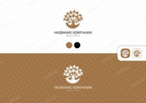 Логотип в виде дерева и пилы