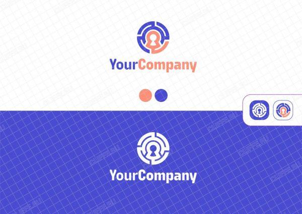 Логотип для it компании в форме лабиринта