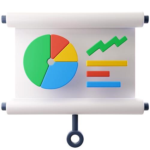 3d иконка аналитики нейминга