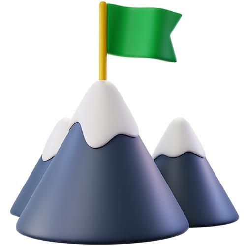 Объемные горы 3d визуализирующие нейминг